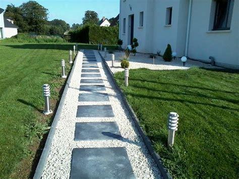 Leroy Merlin Bordure Jardin 203 by All 233 E Pi 233 Tonni 232 Re En Dalles Ardoise 60 60 Et Gravillons