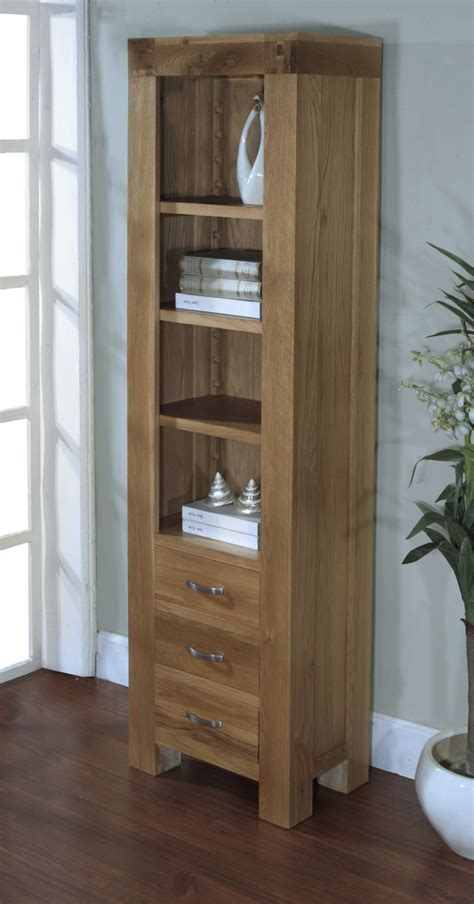 Tall Dining Room Table Sets by Avon Oak Furniture 3 Drawer Tall Slim Narrow Bookcase Ebay