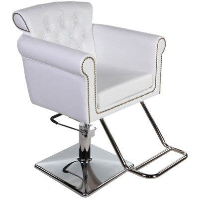 Vintage Salon Chairs by New Salon Equipment White Vintage Hydraulic Hair Styling Chair Sc 06w All Tressed Up