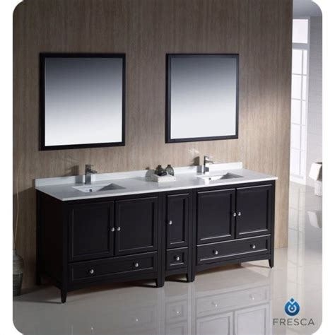 fresca oxford 84 quot bathroom vanity in espresso fvn20 361236es