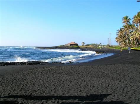 picture photo black sand beach at punaluu big island sea mountain resort big island hawaii timeshare points