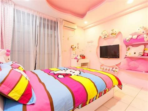 hello kitty teenage bedroom home decorating ideas