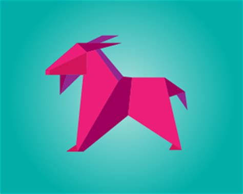 origami goat 45 creatively illustrated logo designs for inspiration