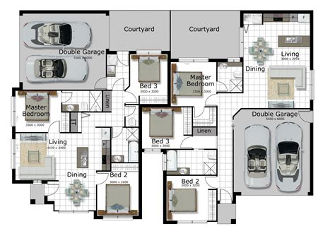 Corner Lot Duplex Plans by Bedroom Large Apartments Floor Plan Travertine Table Light