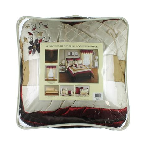 Sunham Home Fashions Quilts by Sunham Home Fashions New Janelle Ivory 24pc Comforter Set