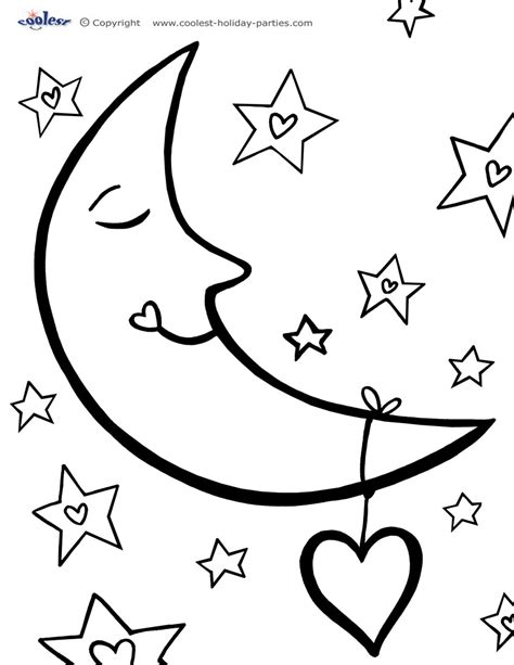 printable coloring pages the moon coloring pages to and print for free