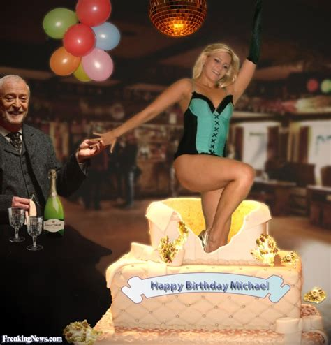 hot chick jumping out of cake girl jumps out of michael caine s birthday cake pictures