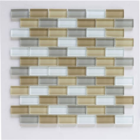 glass backsplash tile lowes shop interceramic 12 in x 12 in shimmer blends glass