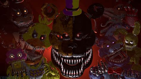 1d Poster 4 fnaf4 2spoopy 5me sfm poster 4k by chibihearts249 on