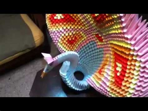 tutorial pavo real origami 3d origami 3d pavo real gigante youtube