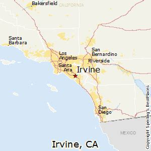 california map irvine best places to live in irvine california