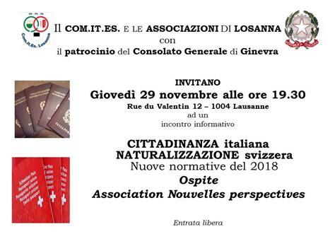 consolato italiano a losanna comites losanna accueil