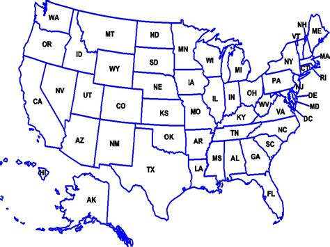 map of states of usa with name us map with state abbreviations and names arabcooking me