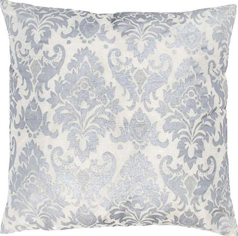 Silver Decorative Pillows by Rizzy Silver White Decorative Pillow T03593