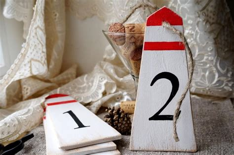 nautical table numbers wedding table numbers nautical wedding decor lighthouse