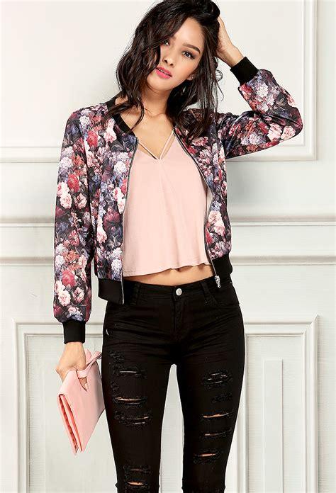 Floral Jacket floral bomber jacket streetwear floral