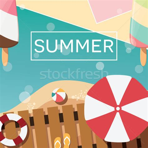 poster design elements vector modern typographic summer poster design with ice cream
