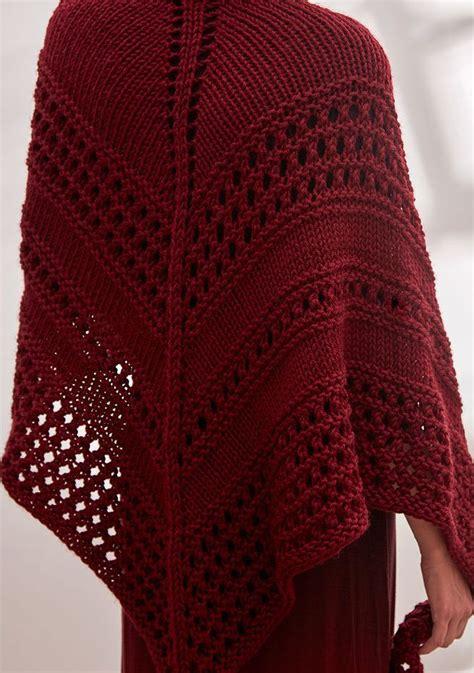 triangle pattern knitting free knitting pattern for chunky textured triangle shawl