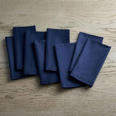fete navy blue cloth napkins set   reviews crate  barrel