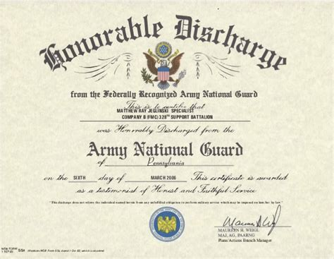us army honorable discharge