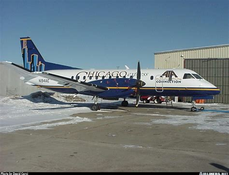 saab 340b chicago express airlines ata connection