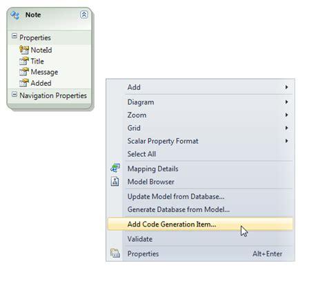 repository pattern t4 template walkthrough ado net unit testable repository generator