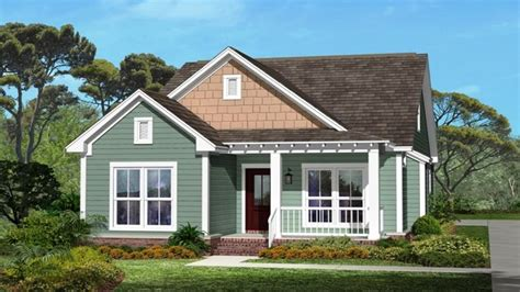 small house with ranch style porch small house plans
