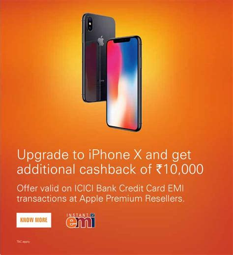 apple iphone x offer icici bank