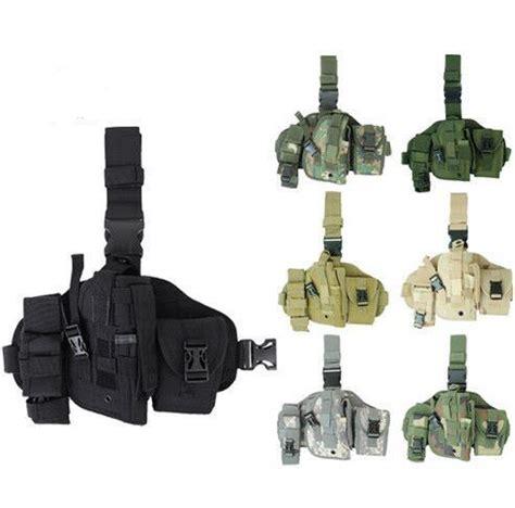 Holster Universal Tactical Molle Drop Leg Holsters With Berkualitas 600d molle qd versatile drop leg holster bag tactical