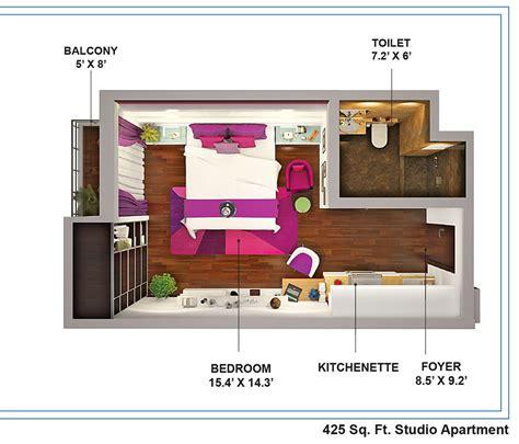 288 square feet concept horizon orizzonte studio apartment gupta realty