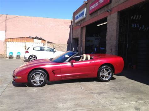 auto body repair training 2001 chevrolet corvette head up display find used 2001 chevy corvette convertible metallic red beige 99k runs perfectly hud in palmdale