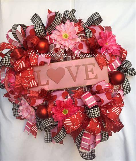 valentines wreaths love pink wreath front door wreath
