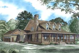 big porch house plans oak forest cabin lodge house plan alp 09rh