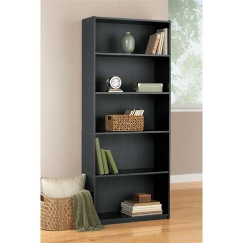 mainstays 5 shelf bookcase black other home walmart