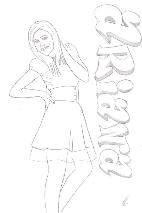 ariana grande free colouring pages