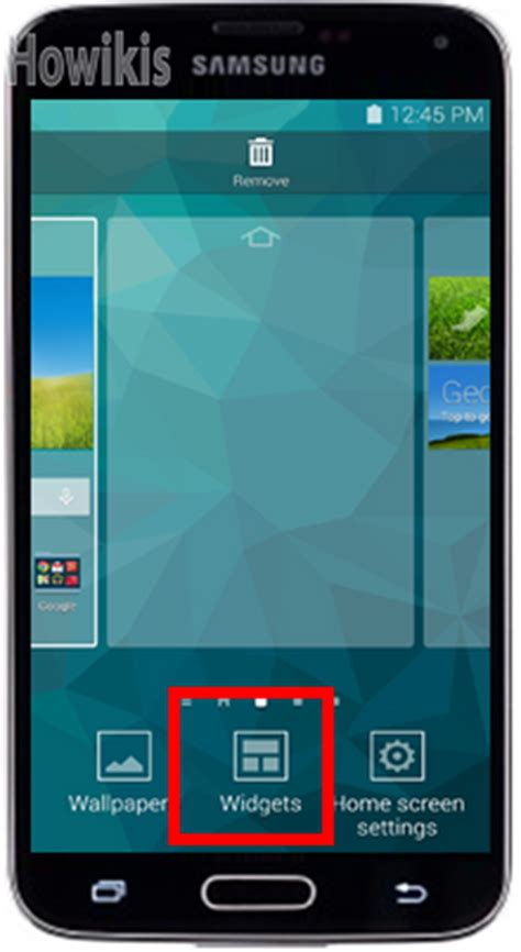 add delete  move widgets   home screen  samsung