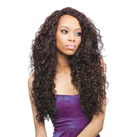 Lace L peruvian bundle hair outre synthetic batik l part lace front wig curl ebay