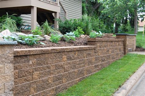 Block And Stone Retaining Wall Construction Company North Va Block Garden Wall
