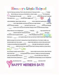 mother s day mad libs family spice