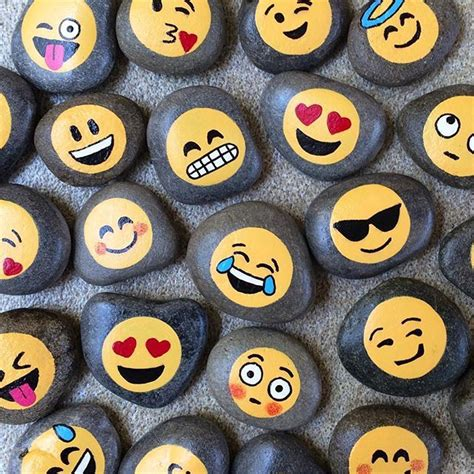 paint emoji 1915 best images about drawing on rocks on pinterest