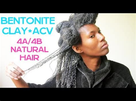 How To Detox Hair With Bentonite Clay by Bentonite Clay On 4a 4b Hair Tutorial Kashtv