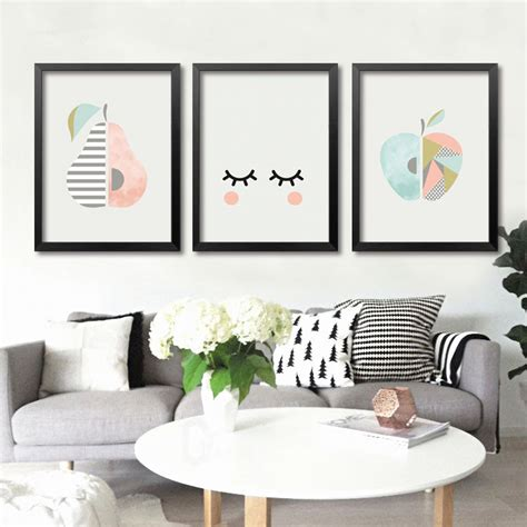 sj home interiors new nordic simple fruit pictures prints poster