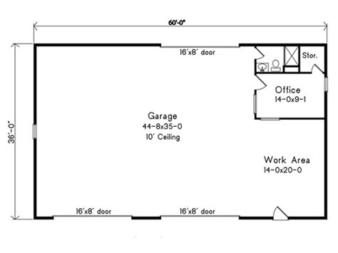 Floor Pla by Garage Plan 49163 At Familyhomeplans Com