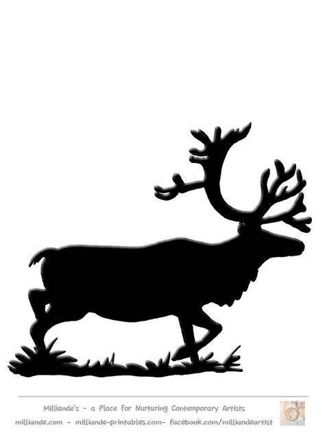 Best 25 Reindeer Silhouette Ideas On Pinterest Reindeer Silhouette Template