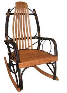 Handmade Rocking Chairs - handmade rustic rocking chair by hickory mountain