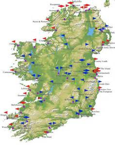 golf courses map golf ireland map