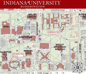 Indiana university bloomington map campus