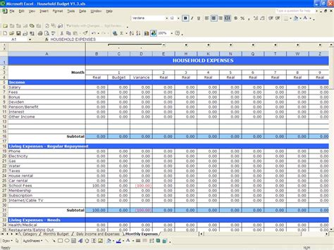 household budget and finances template and tutorial excel youtube