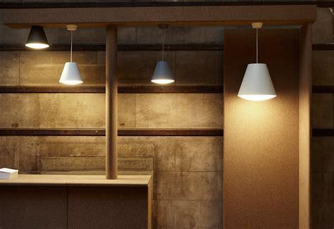 Sinker pendant light designed by Wrong London