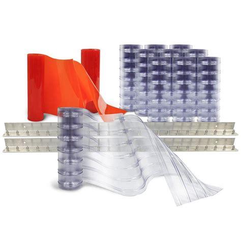 aleco strip curtains aleco scratch guard 8 ft x 8 ft pvc strip door kit